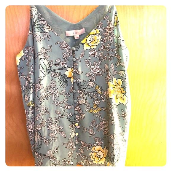 9e78084d64 LOFT Floral Button Strappy Cami